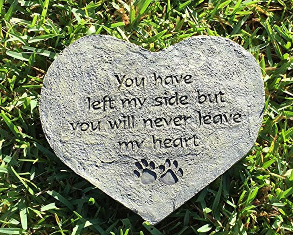 "Pet Memory Garden Stone-You Have Left My Side 10"" - Keepsake-Memorials"