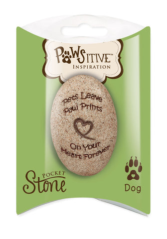 Dog Paw Print Remembrance Stone - Keepsake-Memorials