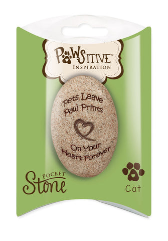 Cat Paw Print Remembrance Stone - Keepsake-Memorials