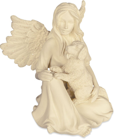 Delightful Riches Angel and Puppy Remembrance Figurine - Keepsake-Memorials