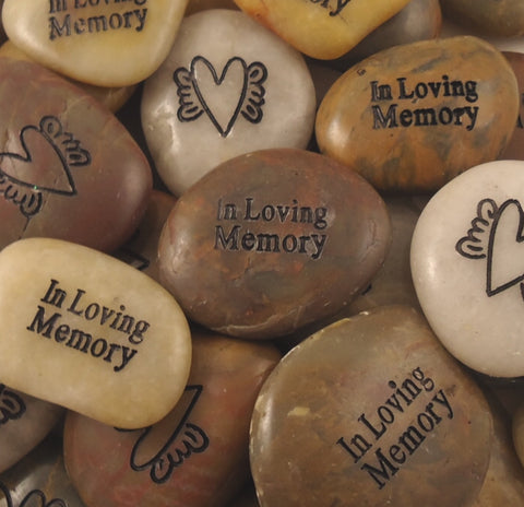 "Remembrance Stones - Engraved ""In Loving Memory"" - Keepsake-Memorials"