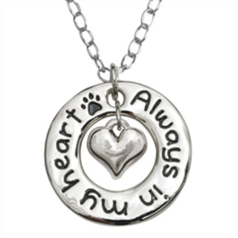 Pet Memorial Heart Necklace - Keepsake-Memorials