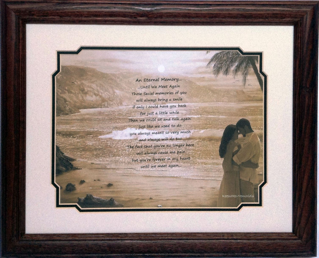 "Remembrance Framed Print - An Eternal Memory- Couple - 11""x14"" - Keepsake-Memorials"