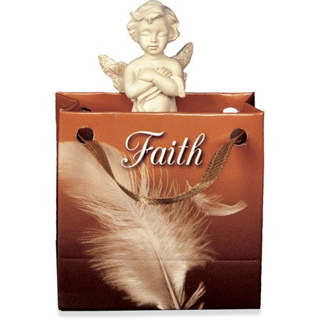 AngelStar Angel of Faith-Small Cherub Gift Bagged - Keepsake-Memorials