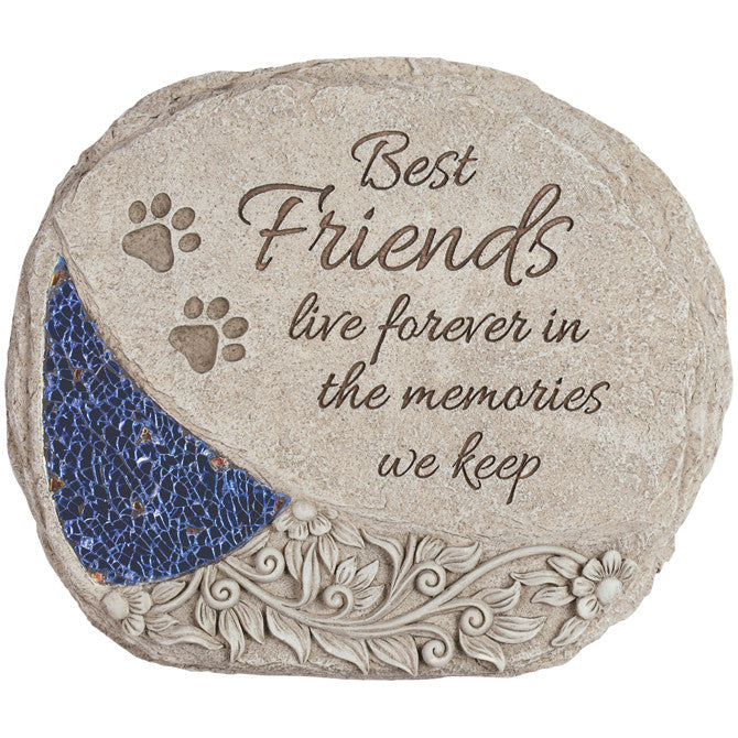 "Comfort and Light Pet Memorial Stone- ""Best Friends live forever ..."" - Keepsake-Memorials"
