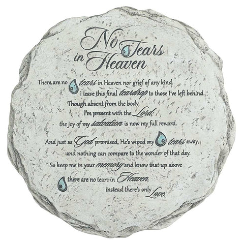 "Garden Stone ""No Tears In Heaven"" 10 inch - Keepsake-Memorials"