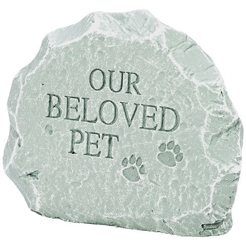 "Pet Memorial Garden Stone - ""Our Beloved Pet"" - Keepsake-Memorials"