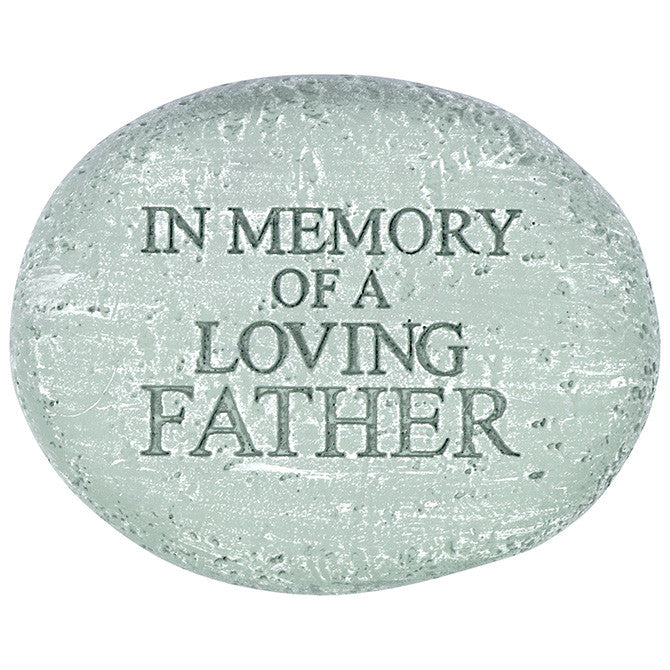 "Memorial Reflections Stone - ""In Memory of a Loving Father"" - Keepsake-Memorials"