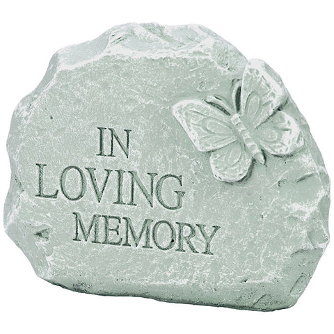 "Memorial Garden Stone - ""In Loving Memory"" - Keepsake-Memorials"