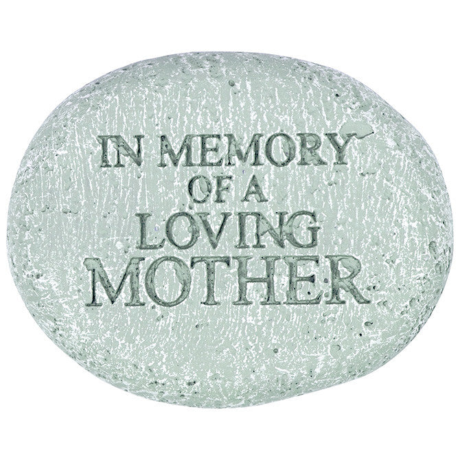 "Memorial Reflections Stone - ""In Memory of a Loved Mother"" - Keepsake-Memorials"