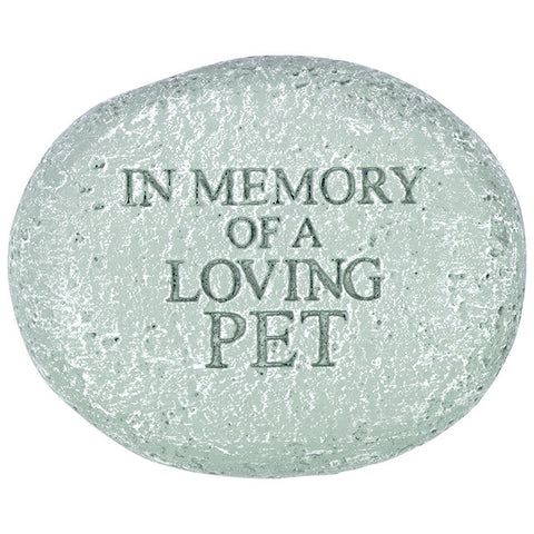 "Memorial Reflections Stone - ""In Memory of a Loved Pet"" - Keepsake-Memorials"