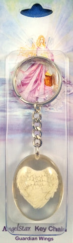 AngelStar Stone Key Chain - Angel Wings - Keepsake-Memorials