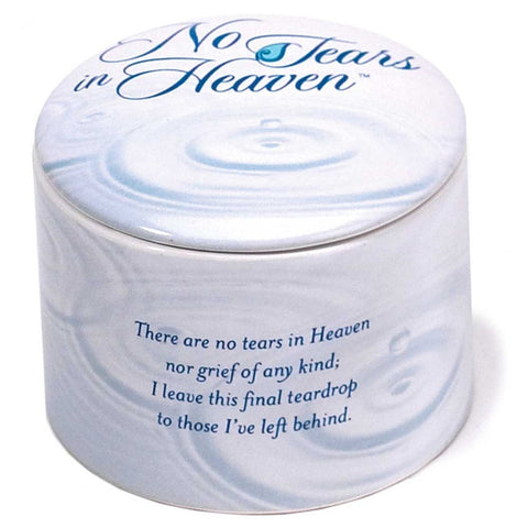 """No Tears in Heaven"" Porcelain Keepsake Box - Keepsake-Memorials"