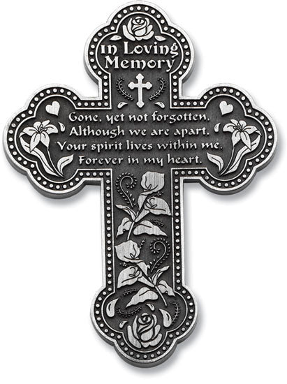 In Loving Memory Pewter Finish Wall Cross - Keepsake-Memorials