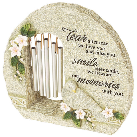 "Peaceful Reflections Garden Chime - ""Memories"" - Keepsake-Memorials"