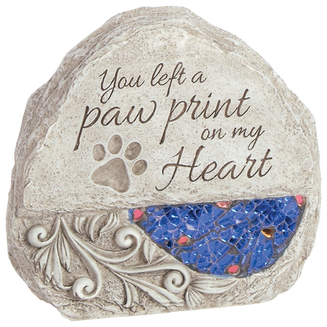 Comfort and Light Memorial Stone - Paw Print on my Heart - Keepsake-Memorials
