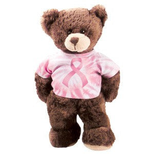 "Breast Cancer Awareness 8"" Plush Bear - Keepsake-Memorials"