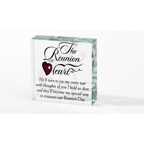 Reunion Heart Table Glass Plaque - Keepsake-Memorials