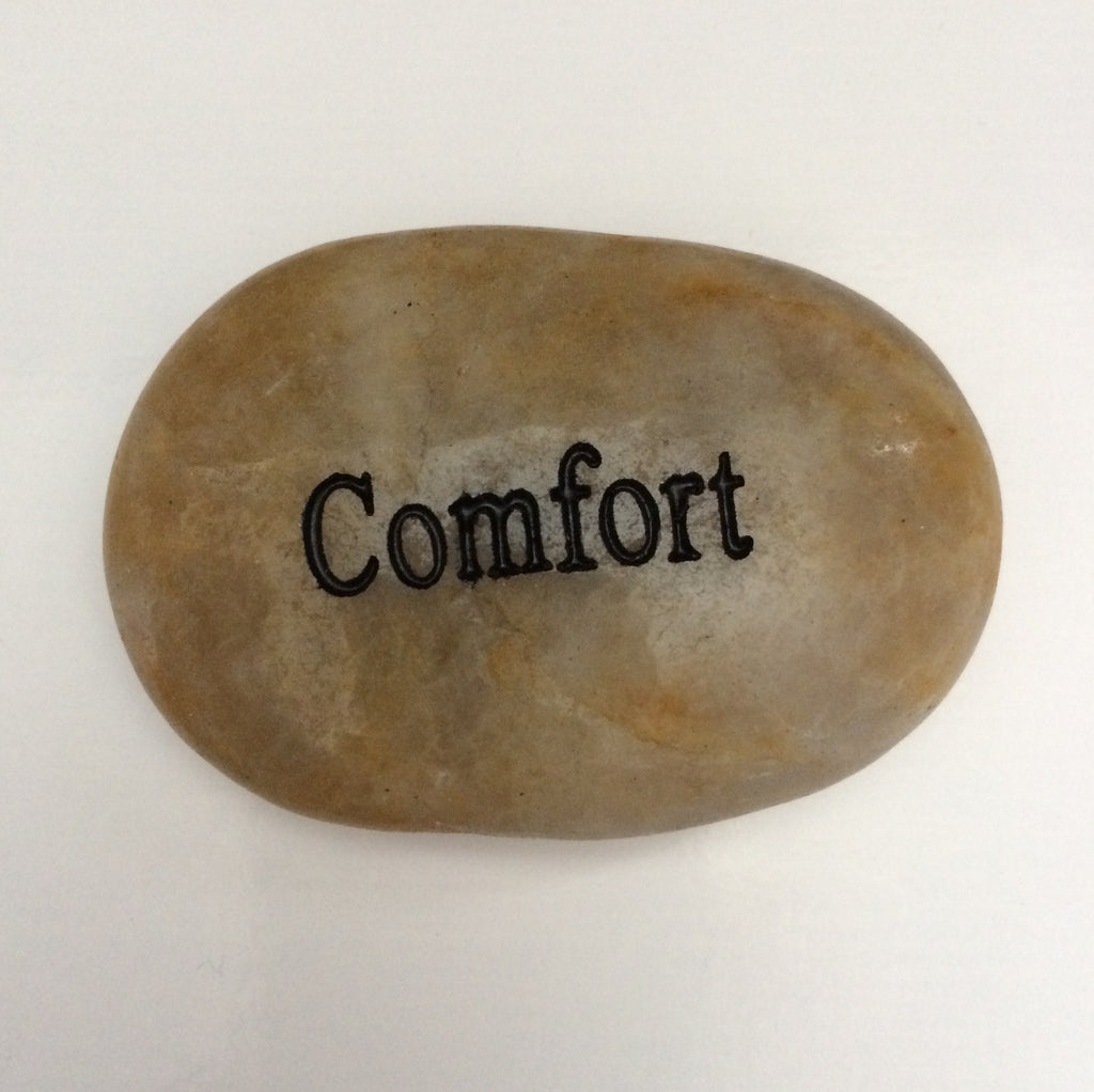 "Engraved River Rocks - ""Comfort"" - Keepsake-Memorials"