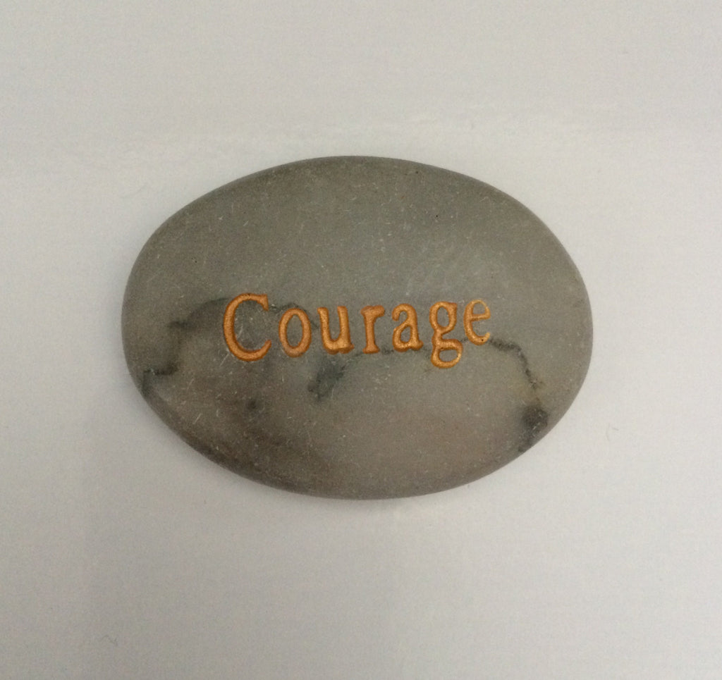 "Engraved Inspirational Stones ""Courage"" - Keepsake-Memorials"