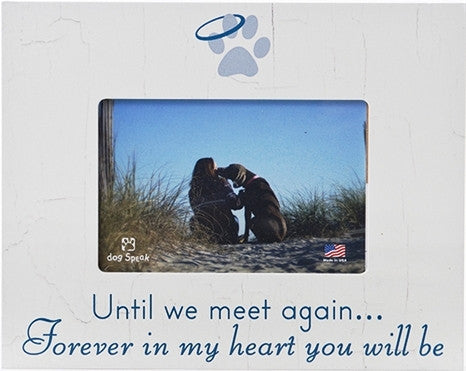 "Until We Meet Again - 7.5"" x 9.5"" Pet Picture Frame - Keepsake-Memorials"