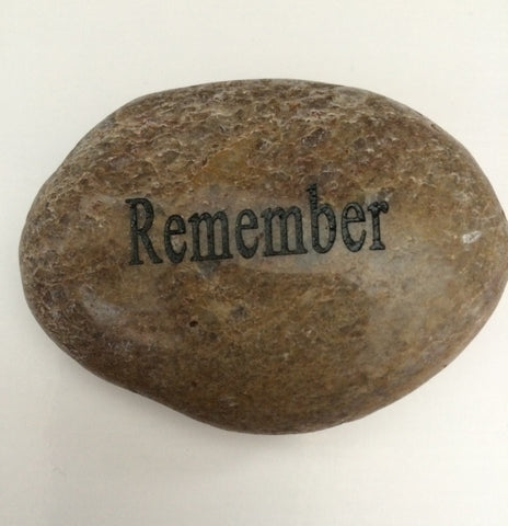 "Engraved River Rocks - ""Remember"" - Keepsake-Memorials"