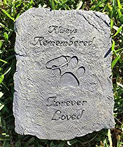 Pet Memorial Stone: Always Remembered Forever Loved - Keepsake-Memorials
