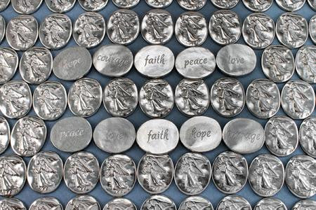 Angel Pocket Tokens-Courage, Faith, Hope, Love & Peace-Set of 5 - Keepsake-Memorials