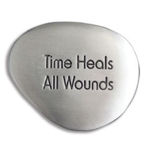 "Inspirational Soothing Stone-""Time Heals All Wounds"" - Keepsake-Memorials"