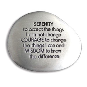Inspirational Soothing Stone-Serenity Prayer - Keepsake-Memorials