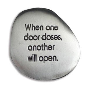 "Inspirational Soothing Stone-""When one door closes"" - Keepsake-Memorials"