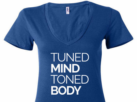 Tuned Mind Toned Body V-Neck