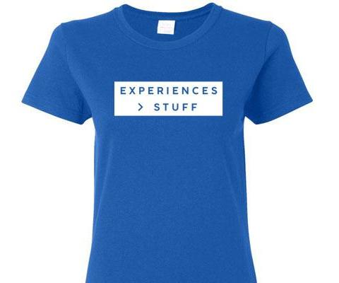 EXPERIENCES GREATER THAN STUFF SHORT SLEEVE