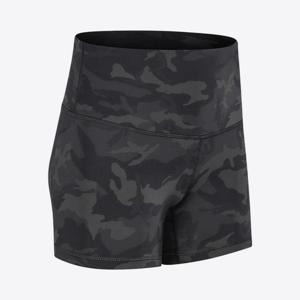 WORKOUT CAMO MID RISE SHORTS