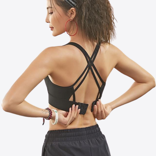 A-E CUP STRAPPY MEDIUM SUPPORT SPORTS BRA