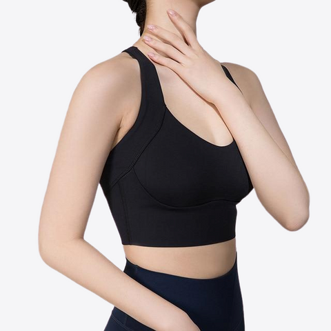 A-C CUP HIGH NECK SPORTS BRA