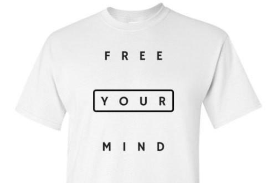 Free Your Mind White Tee