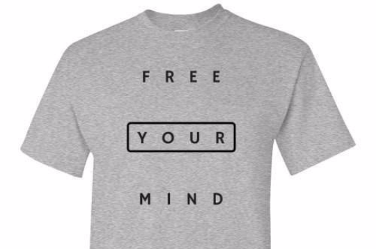 Free Your Mind Grey Tee