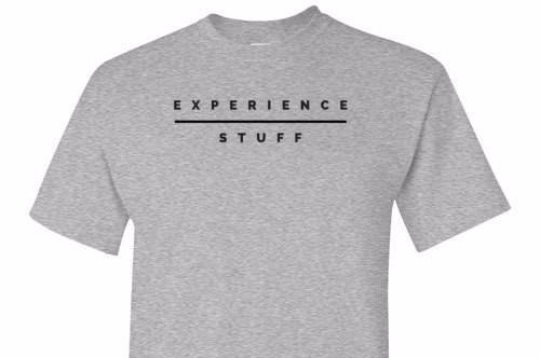 Experience Over Stuff Grey Tee