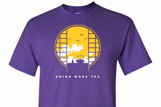 Drink More Tea Yellow Graphic Tee