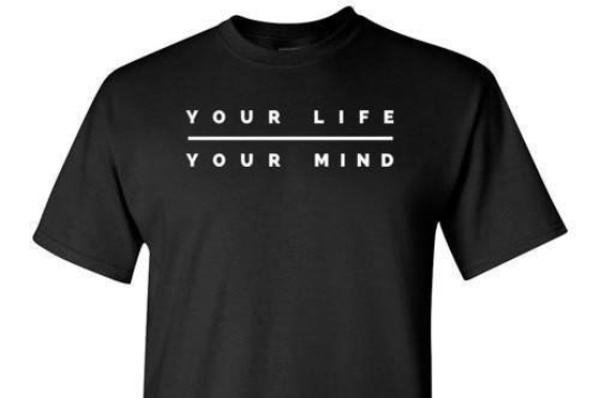 Your Life Your Mind Black Tee