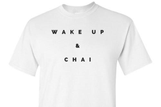 Wake Up And Chai White Tee