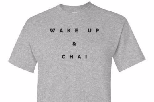 Wake Up And Chai Grey Tee