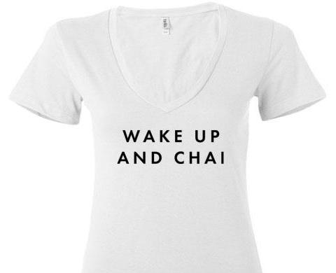 Wake Up and Chai V Neck