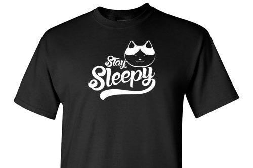 Stay Sleepy White Graphic Tee