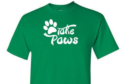 Take Paws White Graphic Tee