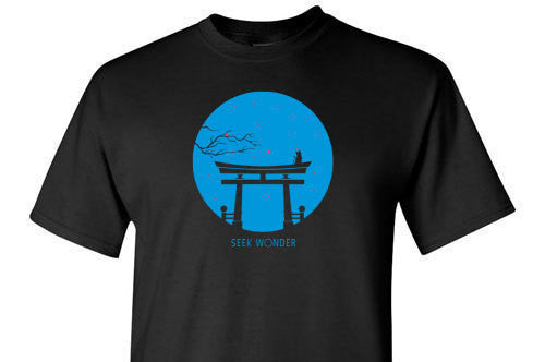 Seek Wonder Blue Graphic Tee