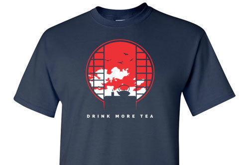 Drink More Tea Red Graphic Tee