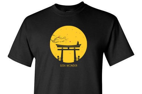Seek Wonder Yellow Graphic Tee