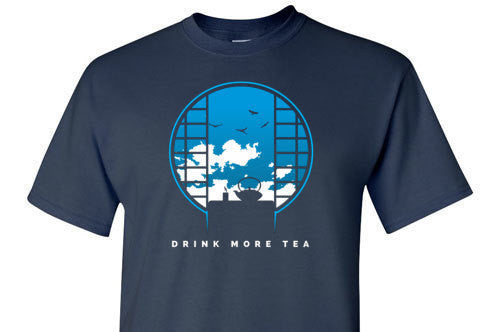 Drink More Tea Blue Graphic Tee